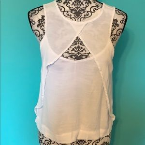 Free People Open Chest Sheer Blouse XS